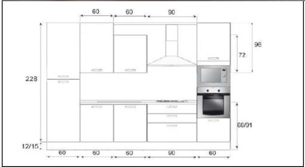 Cucina creo mt composizione standard chiavi in mano - Cucina standard ...