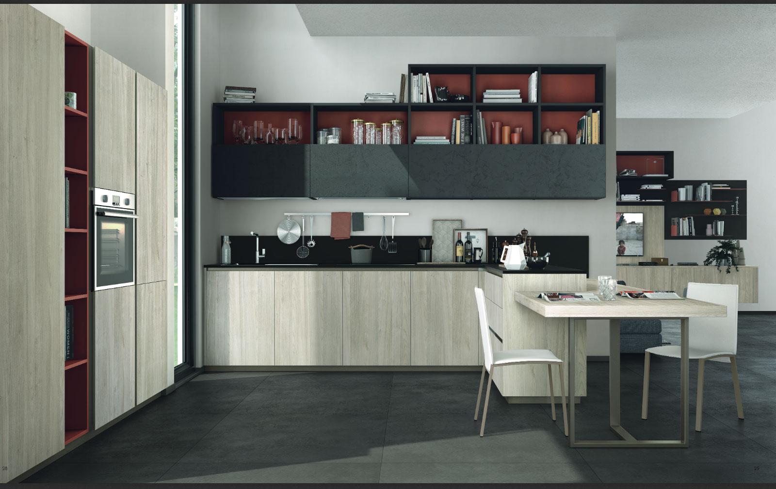 Cucina immagina lux di lube arredare e progettare in libert arredo spazio casa - Cucine e living ...
