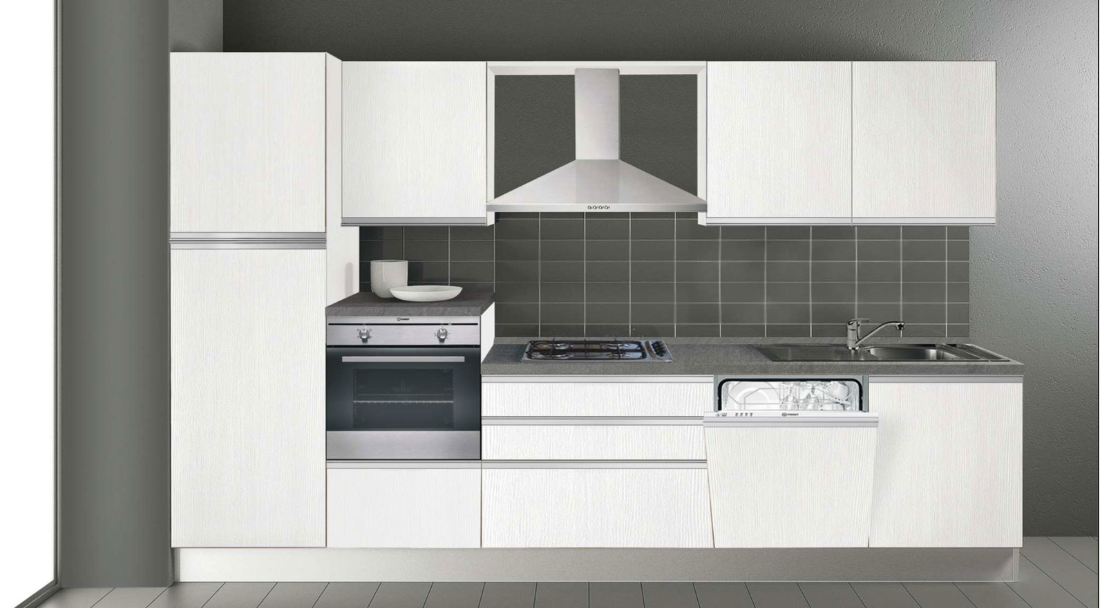 Cucina CREO 3.30 mt- Composizione standard \
