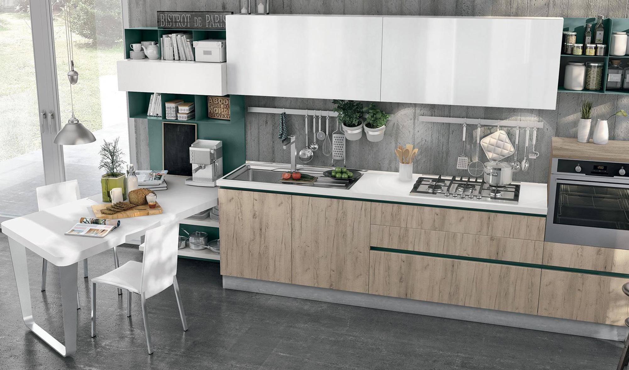 Cucina in Glaks: l\'effetto vetro che è meglio del vetro - ARREDO ...