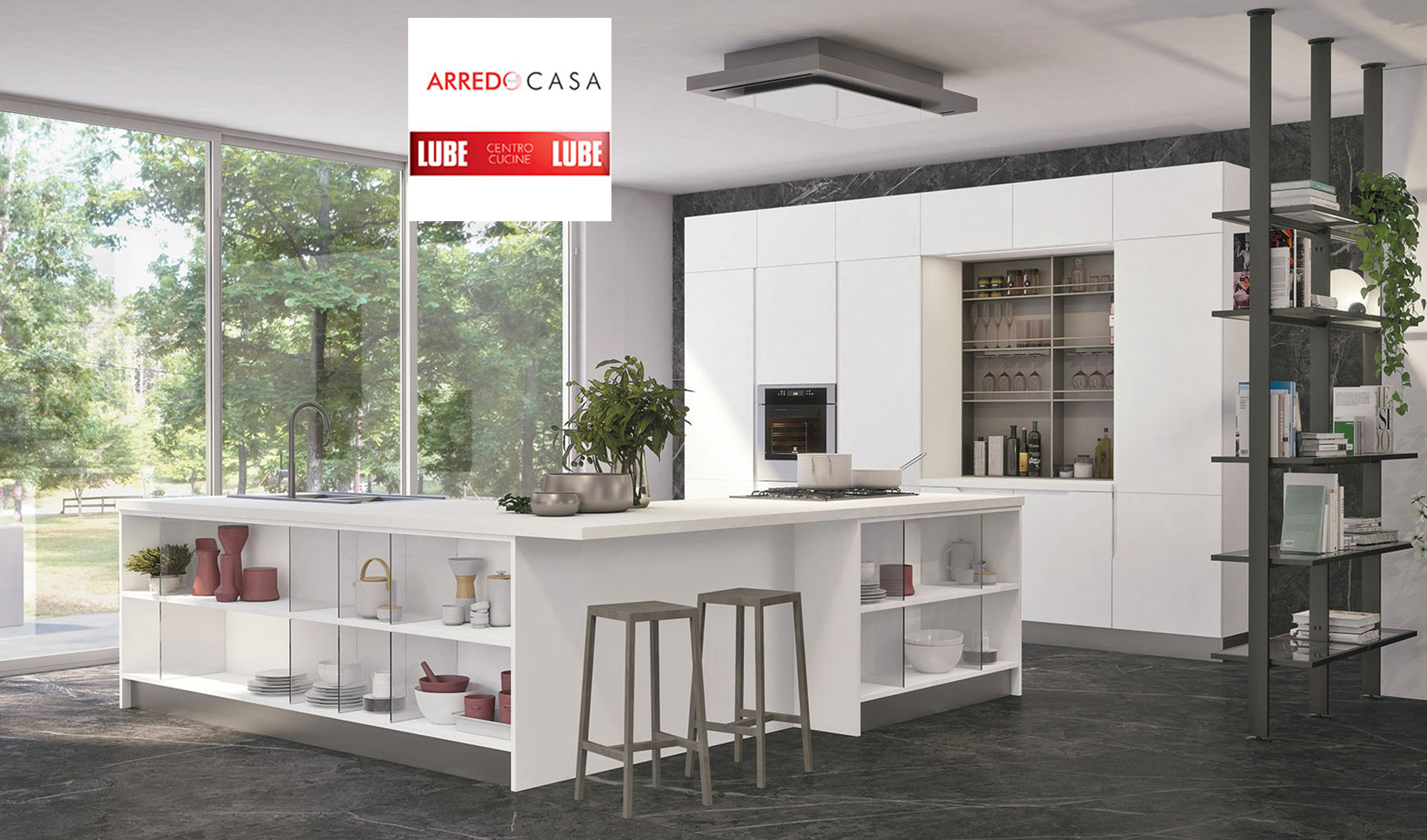 Cucina Luna di LUBE: la soluzione funzionale ed elegante senza ...