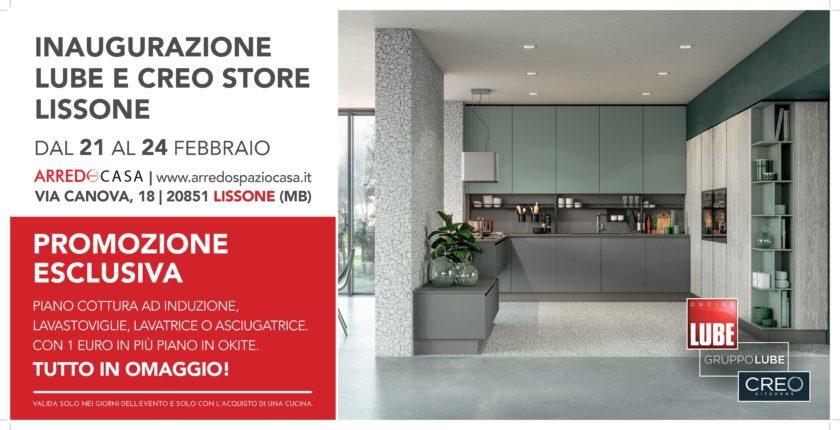 inaugurazione nuovo Lube Creo Store Lissone