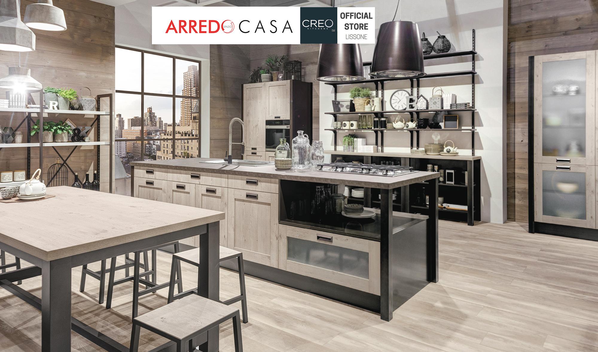 Cucina Kyra Telaio di Creo: icona di stile industrial chic ...
